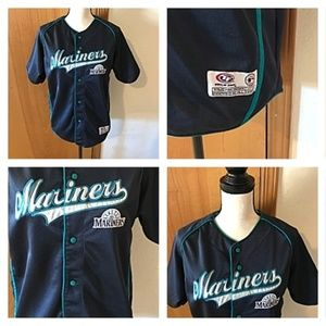 Seattle Mariners Button Shirt Youth XL